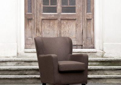 fauteuil Sits Ellen tissus Pano brown