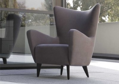 Fauteuil Sits Elsa tissus Caleido light brown
