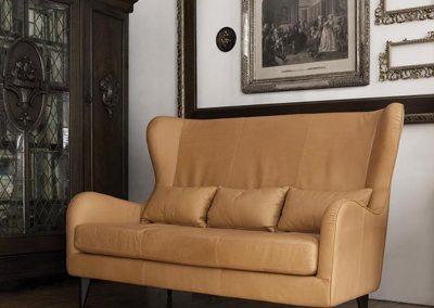 Canapé Sits Greta 2,5 places cuir Aniline camel