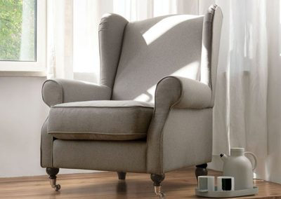 Fauteuil Sits Humphrey tissus Panno light grey