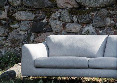 Canapé Klara 3 places tissus Himalaya grey beige