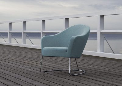 Fauteuil Sits Nina tissus Lila turquoise