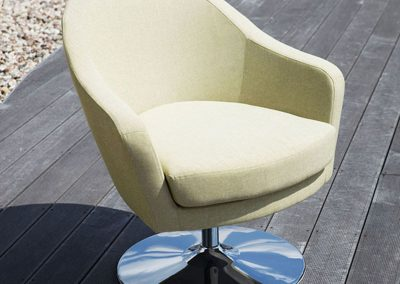 Fauteuil Sits Shell tissus Lila green