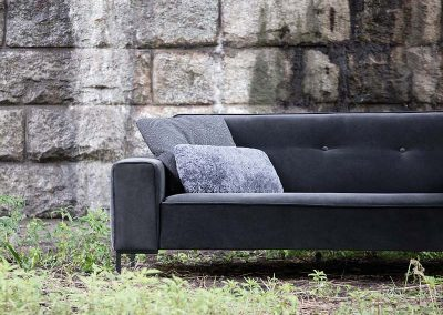 Canapé Sits Ville 2 places tissus Velutto dark grey