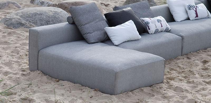 Canapé contemporain composable bleu Liam de Sits