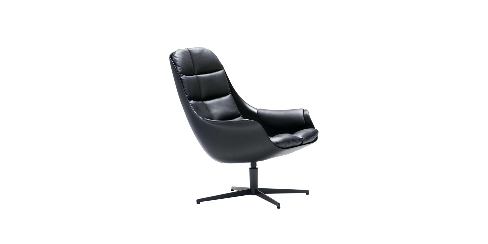 MYBIRD_armchair_swivel_white_aniline_black_1