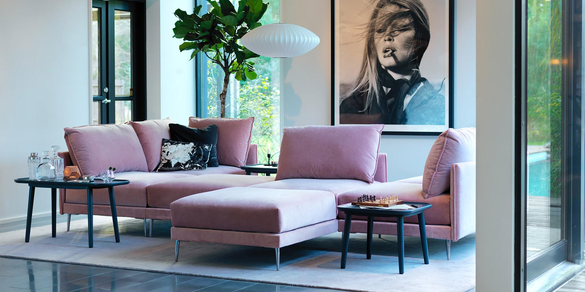 Canapé contemporain ros Alva Malibu-velvet-8-powder-pink