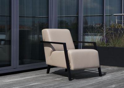 Fauteuil Sits Foxi tissus Oasi beige