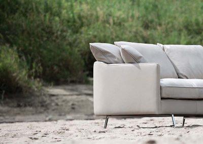 Canapé Sits Julia 4 places cuir Aniline sand