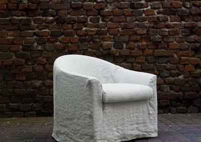 fauteuil Sits Mia tissus Linen natur