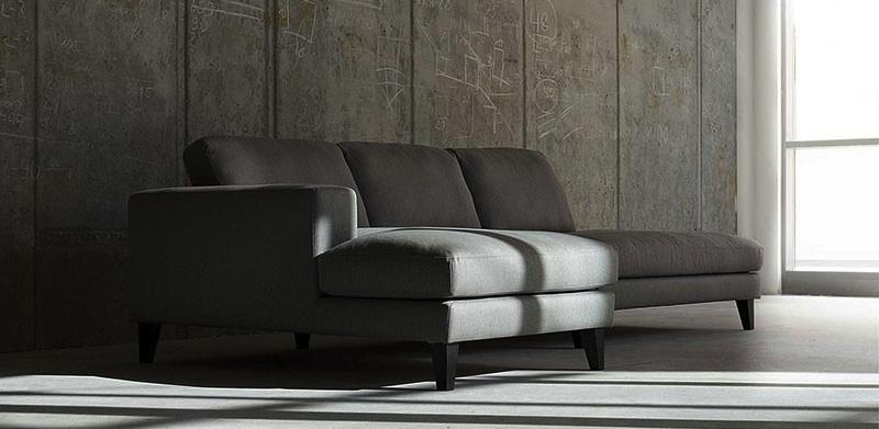 canapé contemporain gris Passion