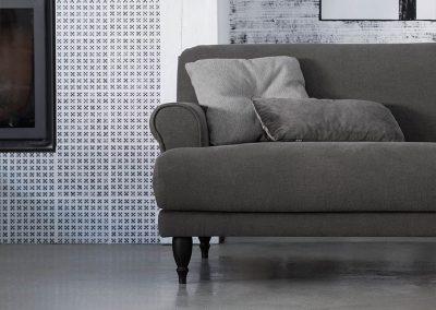 Canapé Sits Rasmus 3 places tissus Linen graphite