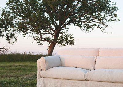 Canapé Sits Sara 3 places tissus Linen nature
