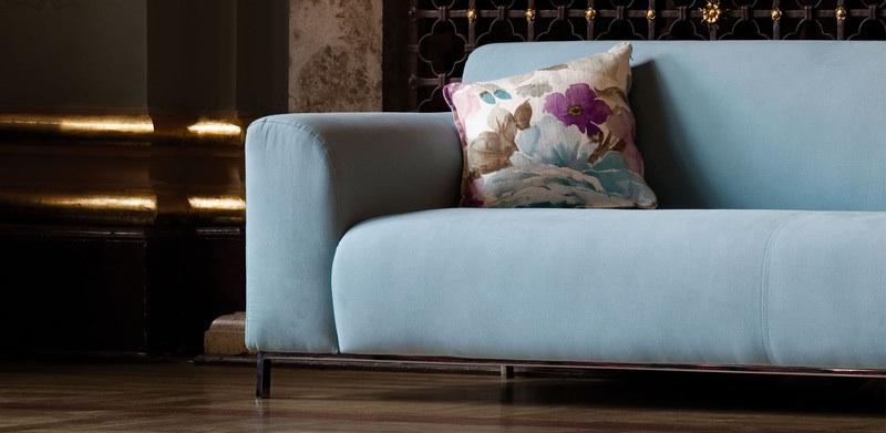 Canapé contemporain bleu Rosa de Sits